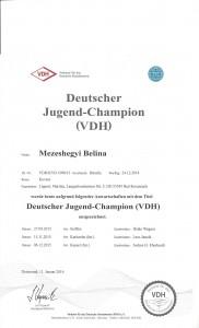Jugendchampion Belina 2015